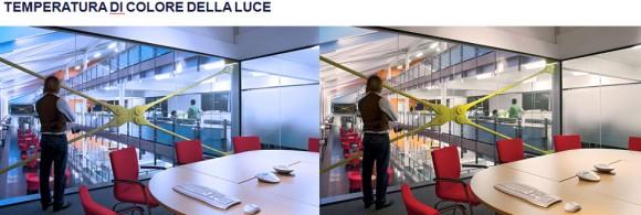 Illuminazione nei luoghi di lavoro temperatura di colore