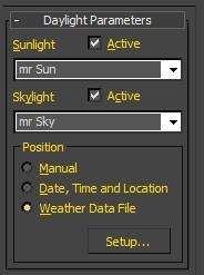 3dsMax simulazione della luce naturale 02