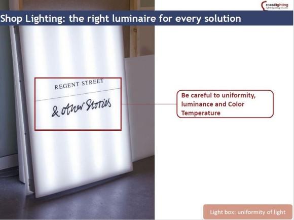 Light box illuminazione spazi di vendita 01 Sm