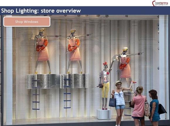 Shop windows illuminazione spazi di vendita Sm