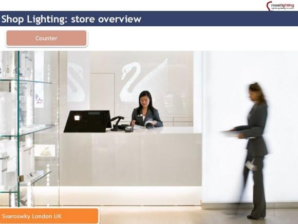 counter illuminazione spazi di vendita Sm