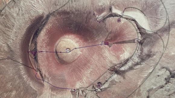 PLanimetria roden crater