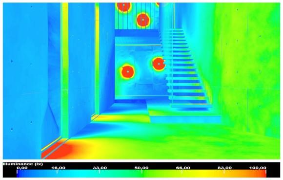 Mental RayFinal Gather Photon Map False colors