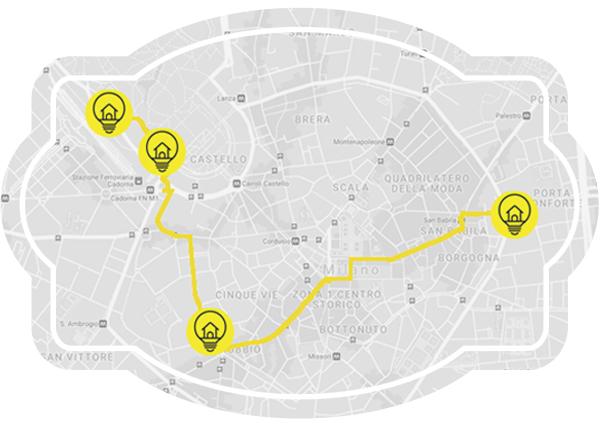 Itinerario Milano Light Tour